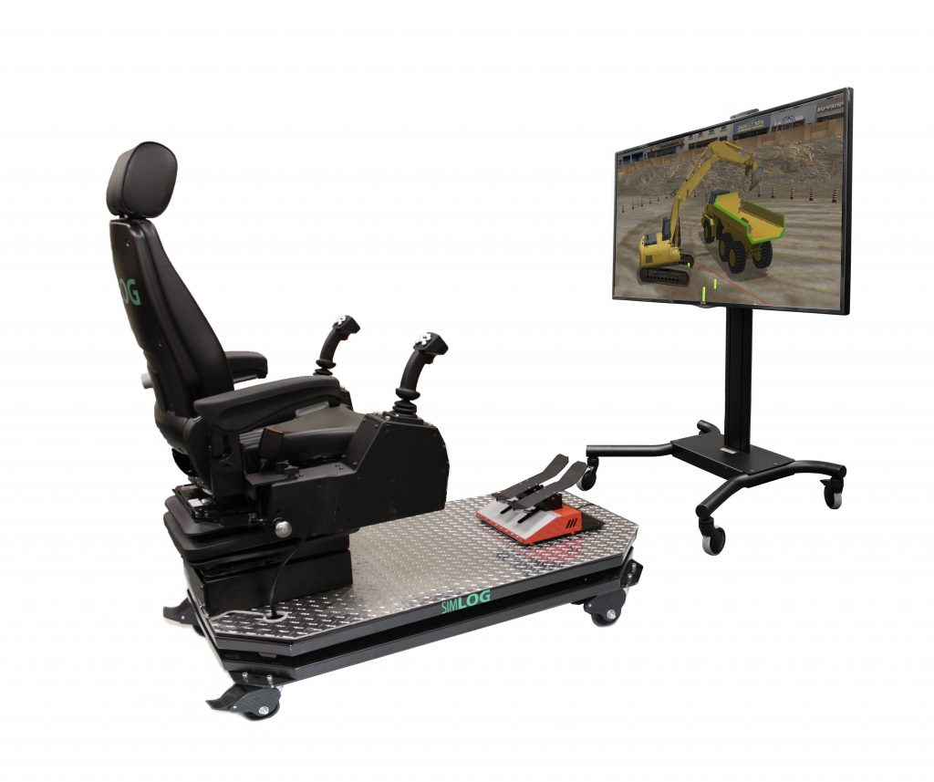 Hydraulic Excavator Personal Simulator - Operator Chair - 1 Display