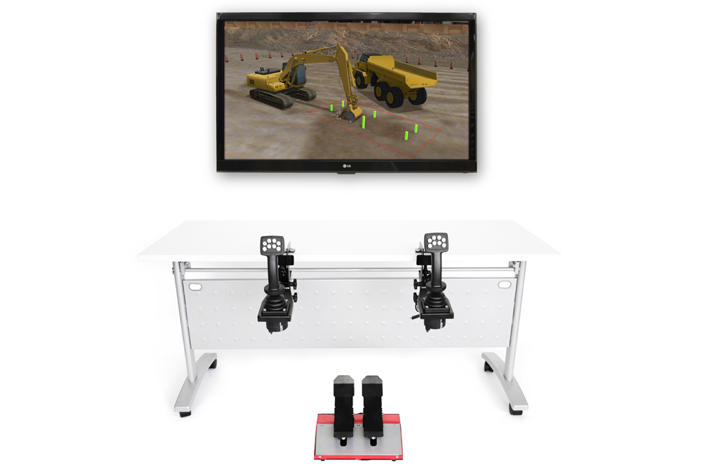 Hydraulic Excavator Personal Simulator - Replica Controls - 1 Display