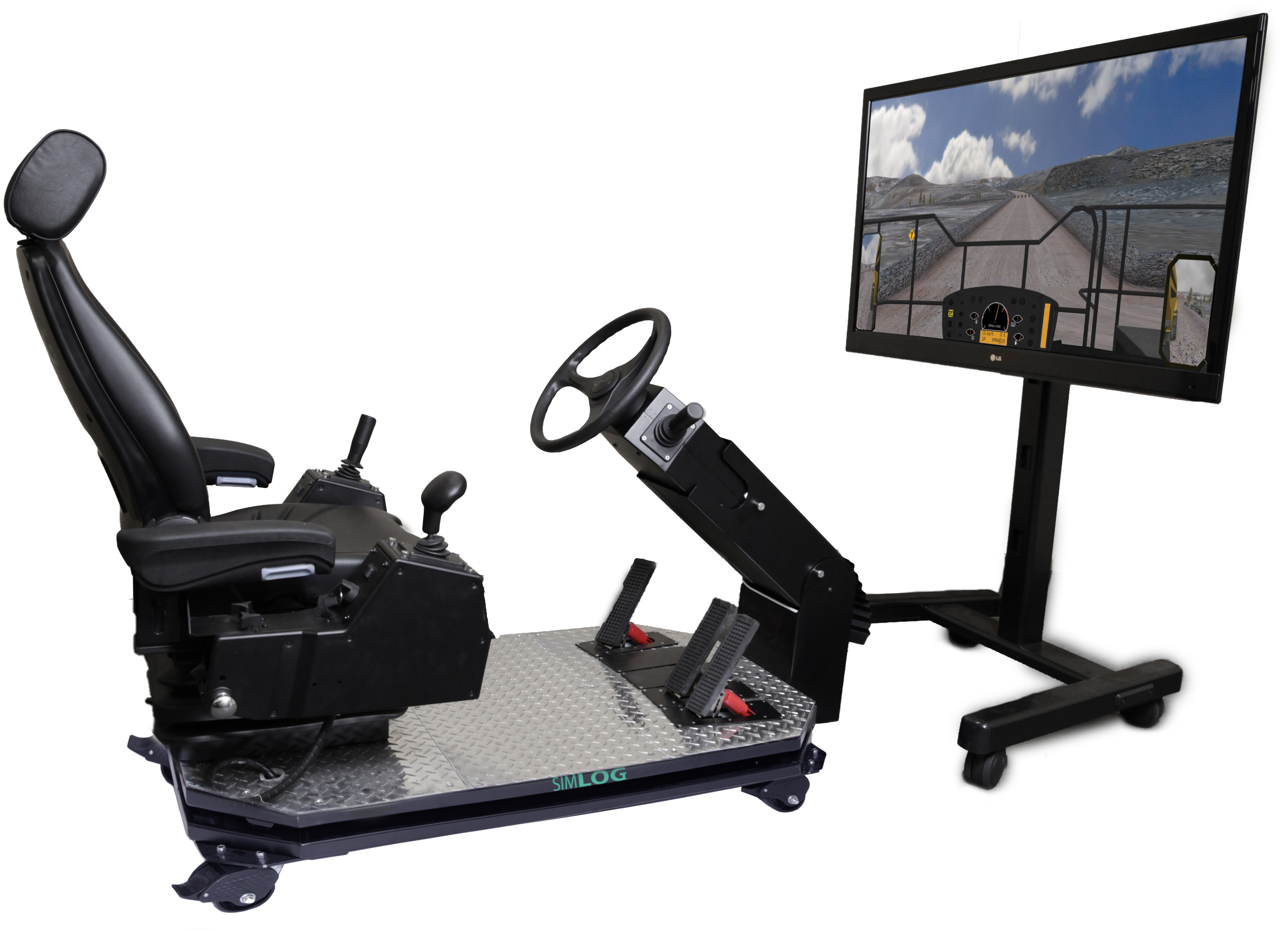 Off-Highway Truck Personal Simulator - Operator Chair - 1 Display