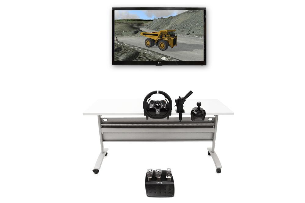 Off-HighwayTruck Personal Simulator - Replica Controls - 1 Display