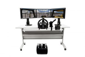 Off-Highway Truck Personal Simulator - Replica Controls - 3 Displays