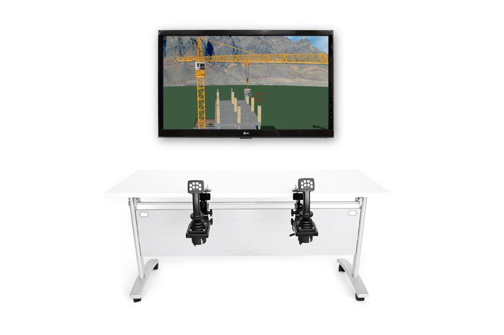 TowerCrane Personal Simulator - Replica Controls - 1 Display