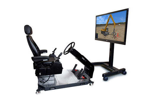Wheeled Material Handler Personal Simulator - Operator Chair - 1 Display