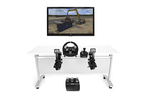 Wheeled Material Handler Personal Simulator - Replica Controls - 1 Display