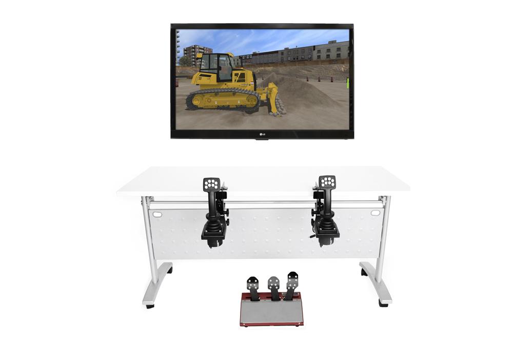 Bulldozer Personal Simulator - Replica Controls - 1 Display