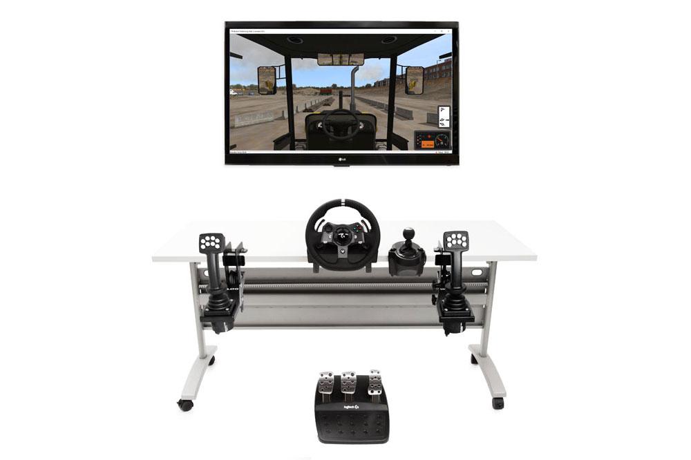 Backhoe Loader Personal Simulator - Replica Controls - 1 Display